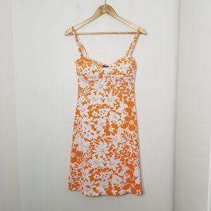 Tommy Bahama | Orange Floral Swim Cover Dress XS